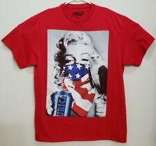Popular Poison Marilyn Monroe America Eagle Red Shirt T-Shirt Murica Mens Large