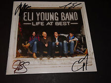 ELI YOUNG BAND SIGNED AUTOGRAPHED LIFE AT BEST CD BOOKLET NO CD INCLUDED
