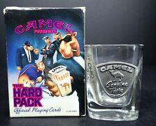 Camel Cigarettes Hard Pack Vtg 1991 Canada Deck Playing Cards & Shot Glass
