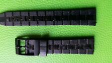 BRACELET MONTRE WATCH BAND/     pvc    NOIR* * 16m* ref/BI 48