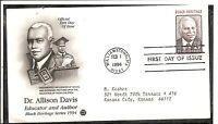 US SC # 2816 Dr. Allison Davis FDC. Postal Commemotative Society Cachet.