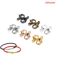 100Pcs/Set Alloy Lobster Clasps Claw Jewelry Hook Making DIY Necklace Brace Js