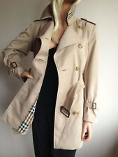 BURBERRY Da Donna Piccolo UK 10-12 (USA 8) Short TRENCH IMPERMEABILE MAC