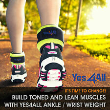 Yes4All Ankle Wrist Weights Pair with Adjustable Strap Leg Arm Running Exercise