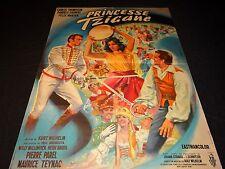 PRINCESSE TZIGANE  affiche cinema  mascii 1960