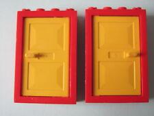 LEGO 4130 @@ Door Frame 2 x 4 x 5 Yellow Door (x2) 355 366 1882 1885 1910 1922
