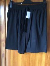 Mens Cotton Shorts Summer Nightwear Pyjama Lounge - Medium F & F Black