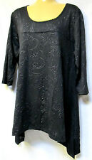 plus sz XS / 14 VIRTU TS TAKING SHAPE Clarence Top soft stretch ornate NWT!