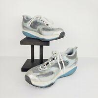 Sketchers Shape Ups Women's XF Accelerators Shoes 12320 Silver Blue Sz 10 CLEAN!