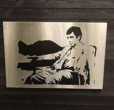 Stainless Steel Art Wall Decor Laser Cut Metal Scarface Al Pacino Man Cave