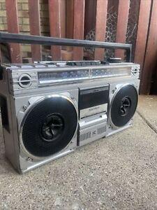 Vintage Magnavox D8120 AM FM Stereo Radio Cassette Recorder (1983) WORKS GREAT