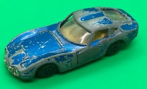 VINTAGE RARE BLUE TOYOTA 2000 DIE-CAST CAR 1/48 Maker Unknown, Made In Hong Kong