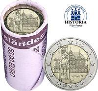 25 x Deutschland 2 Euro 2010 Bundesland Bremen Rathaus & Roland Mzz A in Rolle