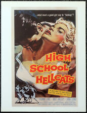 HIGH SCHOOL HELLCATS 1958 FILM MOVIE POSTER PAGE . EDWARD L BERNDS . 528