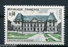 FRANCE, 1962, timbre 1351, PALAIS JUSTICE RENNES, ARCHITECTURE, neuf**, MNH
