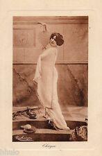 BE048 Carte Photo vintage card RPPC Femme Danses Antiques Regina Badet Chrysé