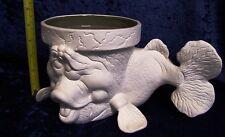 Ceramic Bisque Medium Fish  Crackpot Planter/Utensil Holder 25cm long