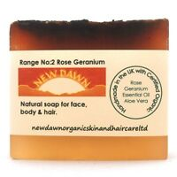 ROSE GERANIUM SOAP BAR - New Dawn Organic Handmade Skin and Hair Care Products