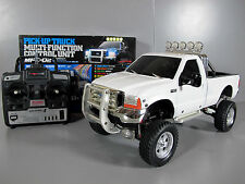 Tamiya 1/10 RC White Ford F-350 High Lift + MFC-02 light sound unit + Futaba