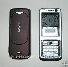 Original calificado Nokia N73 Silver y ciruela Fascia Carcasa Teclado Y Cubierta De Batería