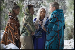 NEW BASOTHO KHOTSO BLACK PANTHER WAKANDA SHURI BLANKET VIBRANIUM CORN MOVIE PROP