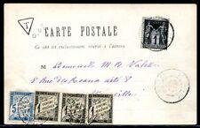 ALGERIE 1900 VORLÄUFER 68 NACHPORTO POSTKARTE(J4486