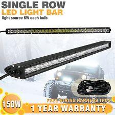 150W 31'' LED Light Bar Single Row Combo for Trucks UTV SUV 4×4 12V Wiring Kit