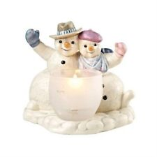 GOEBEL Christmas  Winter Greetings Snowmen with Tealight Candle Holder