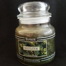 Yankee Candle Retired Black Band Mistletoe Xmas Housewarmer 14.5 oz Jar Rare