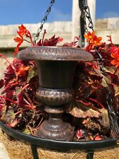 More details for mini cast iron fluted urn   antique vintage french style garden home decorative