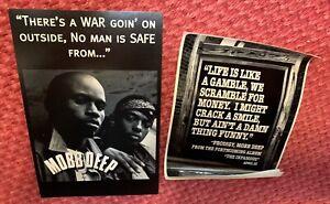 Sticker/Flyer MOBB DEEP The infamous... OG Hip Hop Vintage Retro MEMORABILIA