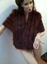 Womens Vintage Vtg Brown Fur Shawl Wrap Fox ? Mink ? Small ? Medium ? Lined Warm