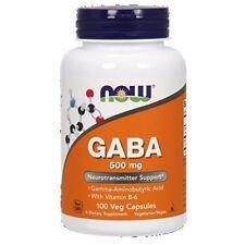 NOW Foods, GABA, 500mg mit Vitamin B6, 100 Kaps. BESTPREIS !!!