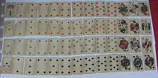 Alte Spielkarten 52 Stück aus Jugendstilzeit um 1900