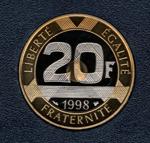 20 FRANCS 1998 MONT ST MICHEL FDC SORTIE DU COFFRET BE