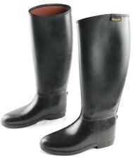 Daslo Tall Riding Boots Womens Size Eu 36 Black Rubber Pull On Horseback Riding
