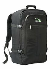 Backpack Flight Carry Bag 44 Litre Travel Hand Luggage 55x40x20Cm Rucksack Black