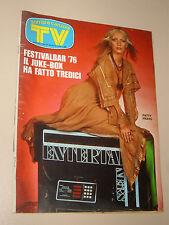 TV SORRISI CANZONI=1976/27=PATTY PRAVO=TERENCE HILL=LUCIO BATTISTI=JOCELYN=