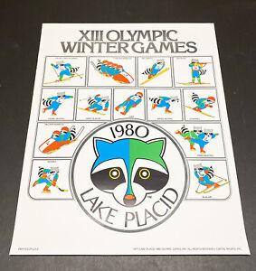 Original Poster 1980 Lake Placid Winter Olympics with raccoon logo