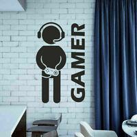 2021 Video Gaming Gamer Wall Decal Art Vinyl Decor Sticker Room Wall Boys R1R8