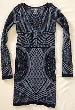 Intimately Free People Mini Dress Size M/L Blue Stretch Bodycn Not an Illusion