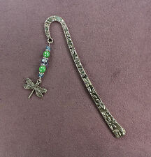 Dragonfly Totem Bookmark Charm Green Blue Silver Butterfly Flower Insect Magic