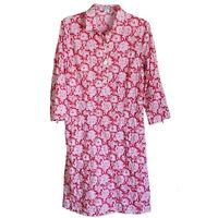 J McLaughlin Women's Dress Cotton Paisley Size M Medium Pockets Red White