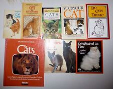 Lot of 8 Cat Books, Guide and Care Information, Hb & Pb
