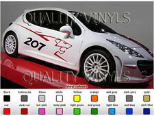 P17 PEUGEOT 207 RALLY CAR GRAPHICS DECAL STICKERS