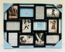 Large Black 12 Picture Multi Aperture Photo Frame - 4''x6'' Collage Frame
