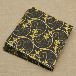 20pcs Classic Black Gold Paper Napkins Tableware Party Birthday Party Decoration