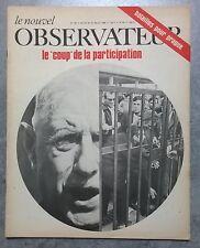 """Le Nouvel Observateur n° 193 """"Le coup de la participation"""" 22/28 juillet 1968"""