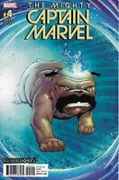 Mighty Captain Marvel Comic 4 Cover B Lockjaw Variant Ron Lim First Print