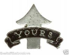 """(#277) UP YOURS Pewter Vest / Hat Pin 1.5"""" x 1"""" Biker Backpack Jacket"""